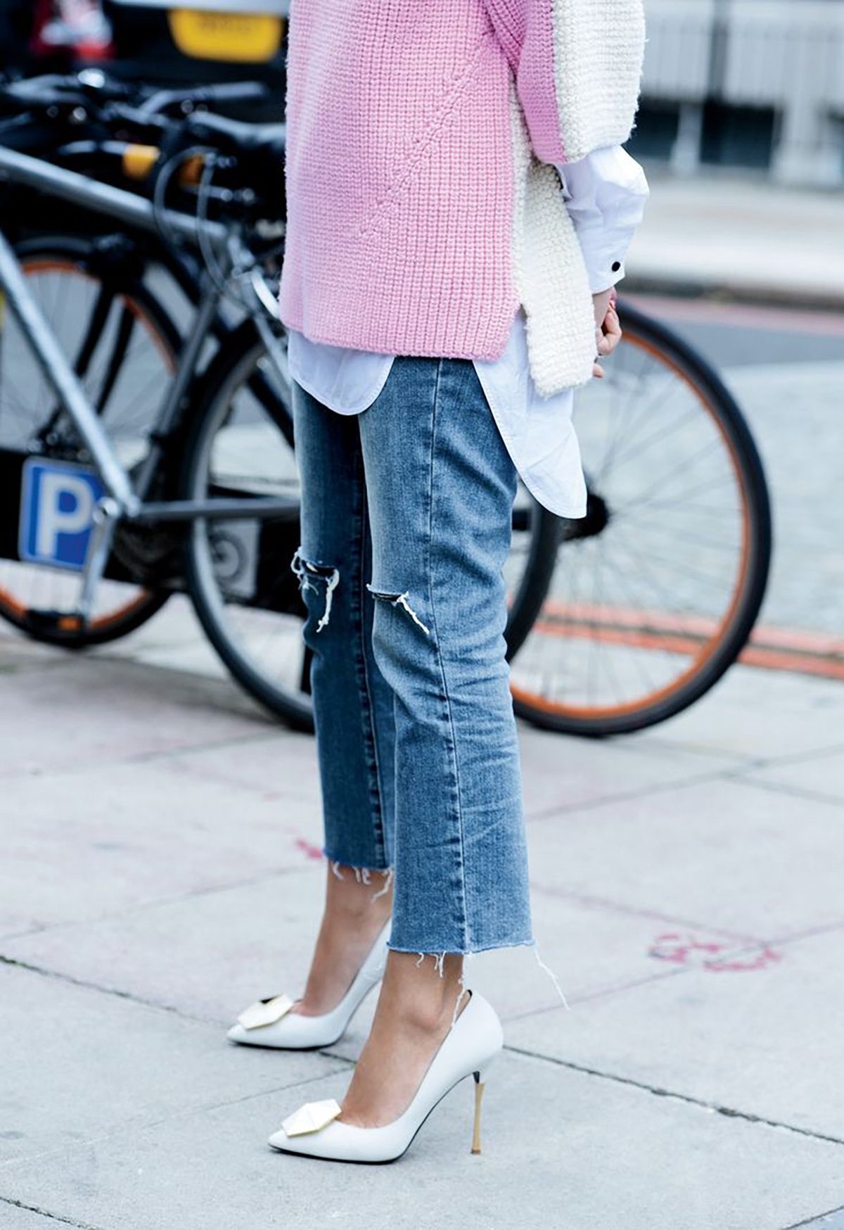 Cropped Flare Denim See Want Shop Personal Fashion