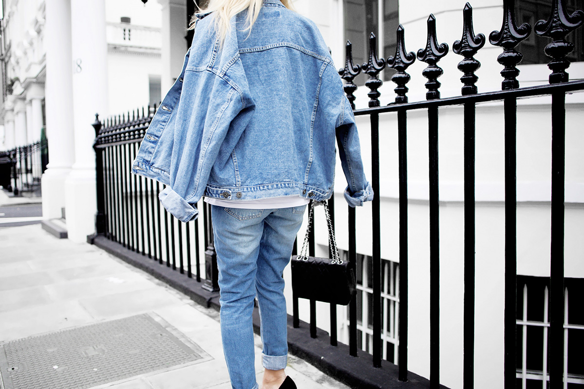 double denim outfit in London