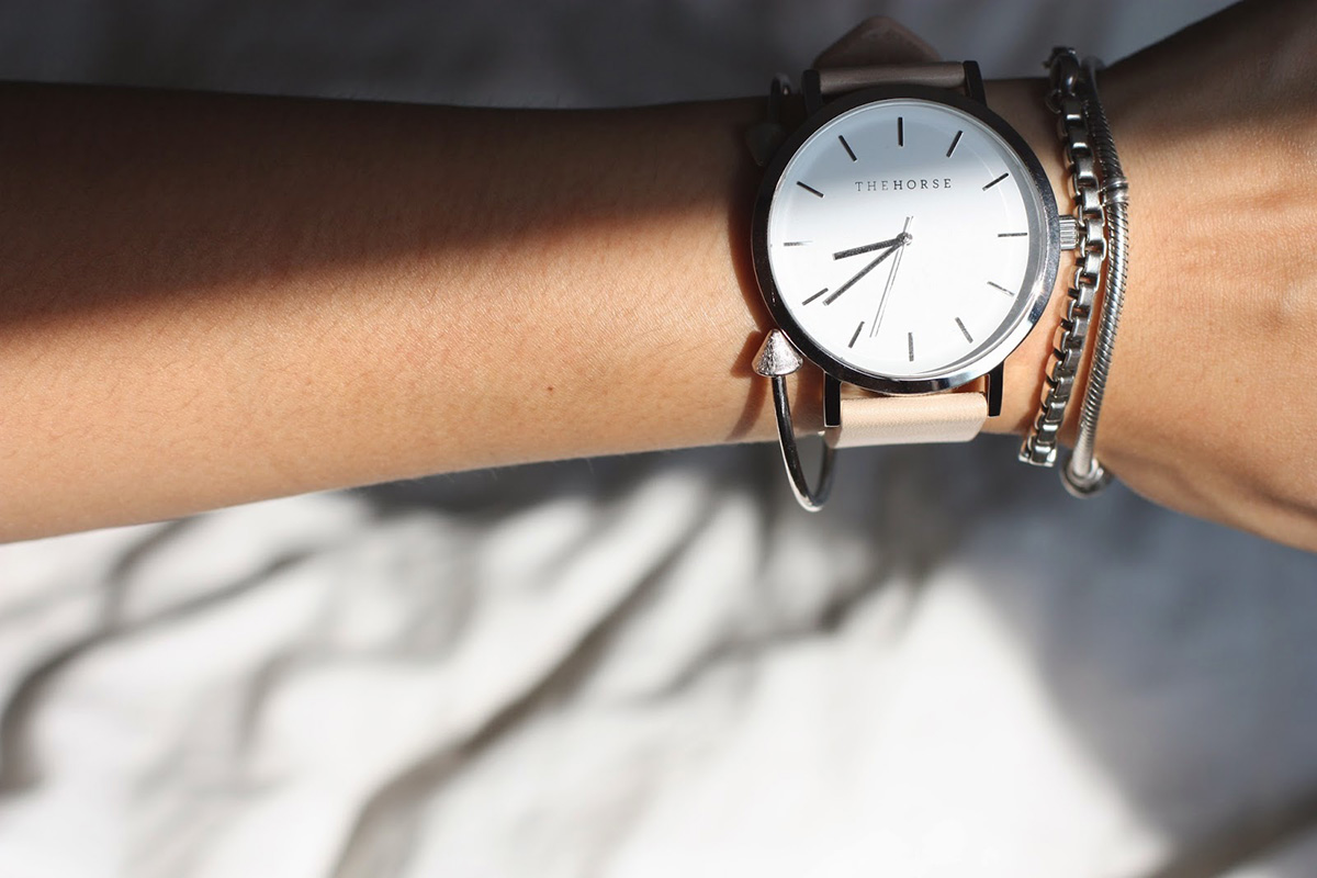 the horse watch and bracelets
