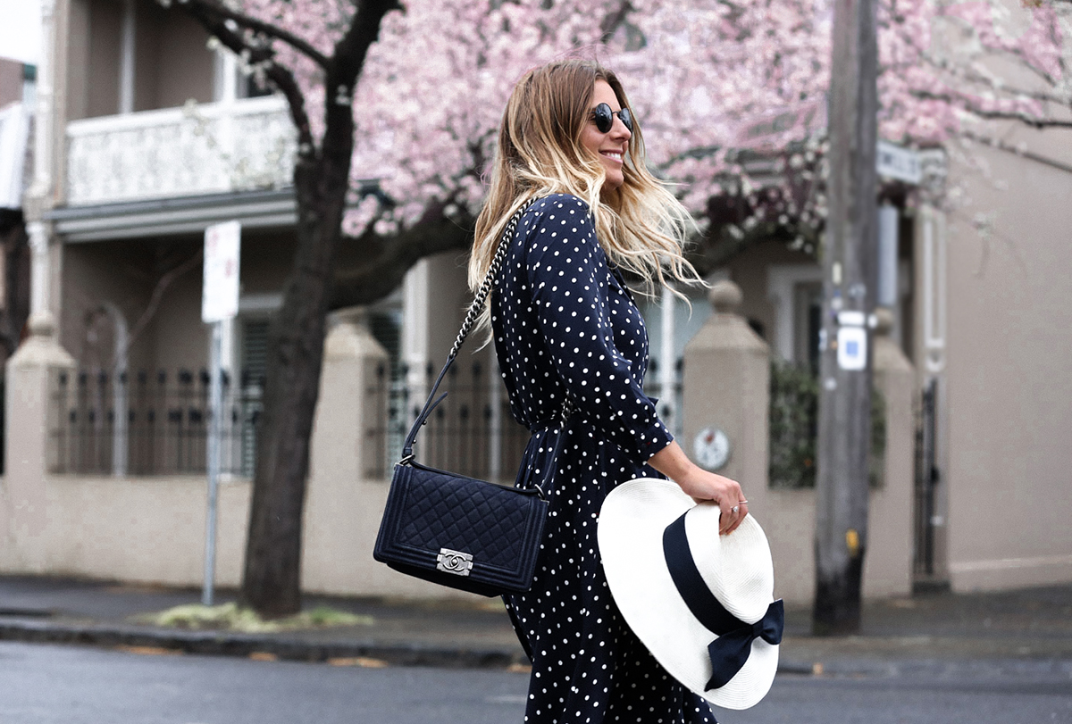 Style blogger wearing Uniqlo Ines De La Fressange Wrap Dress