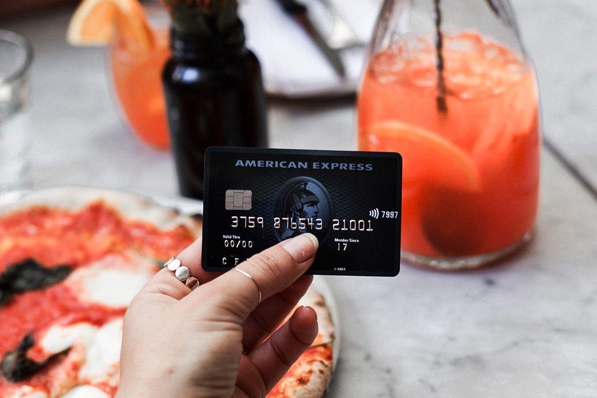 Buying drinks with American Express credit card