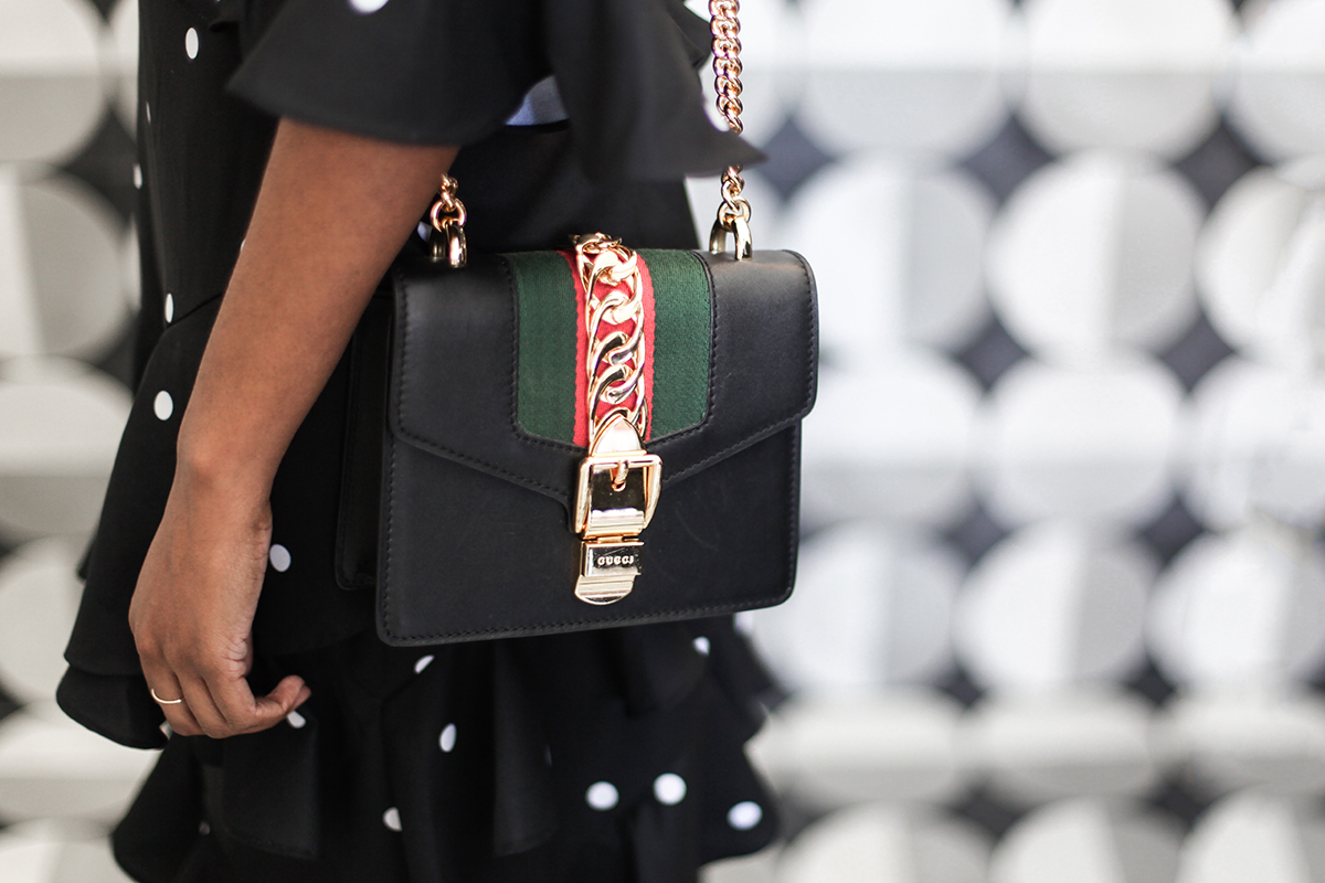 Gucci handbag at the spring races