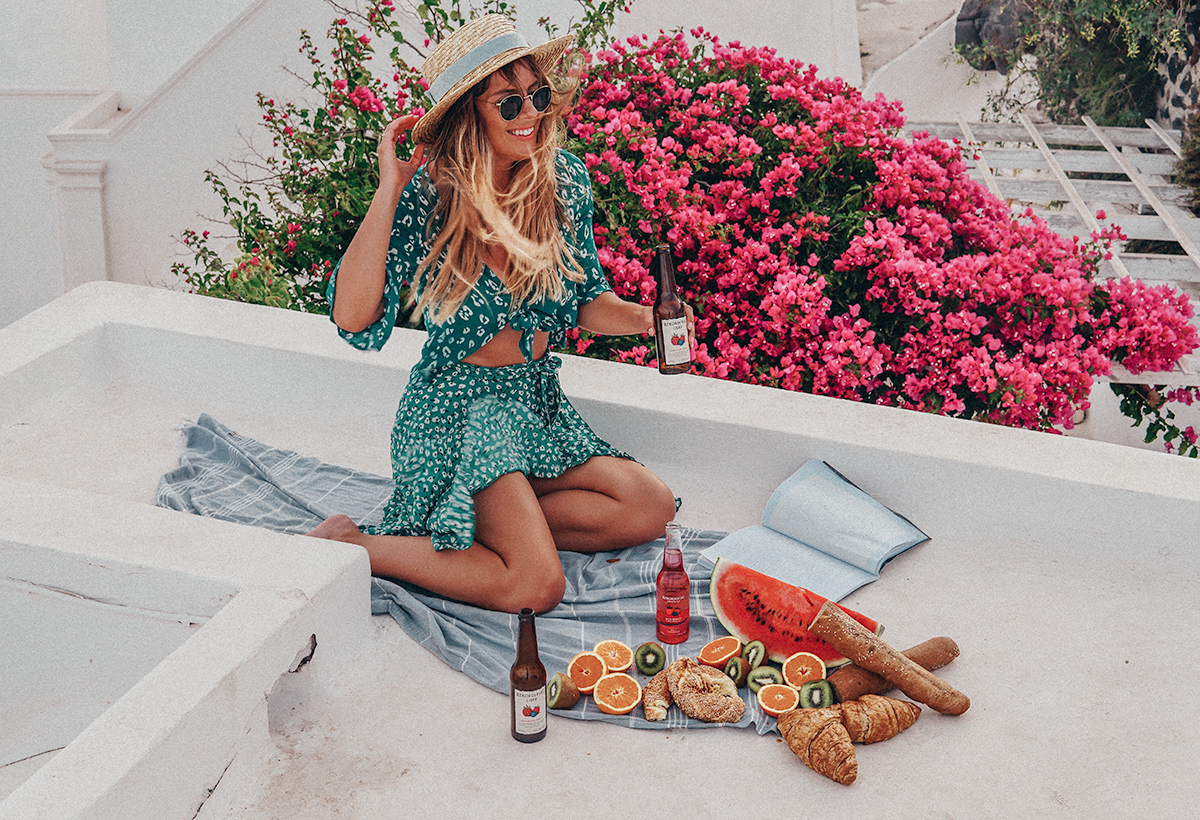 rooftop picnics wearing Faithfull Label