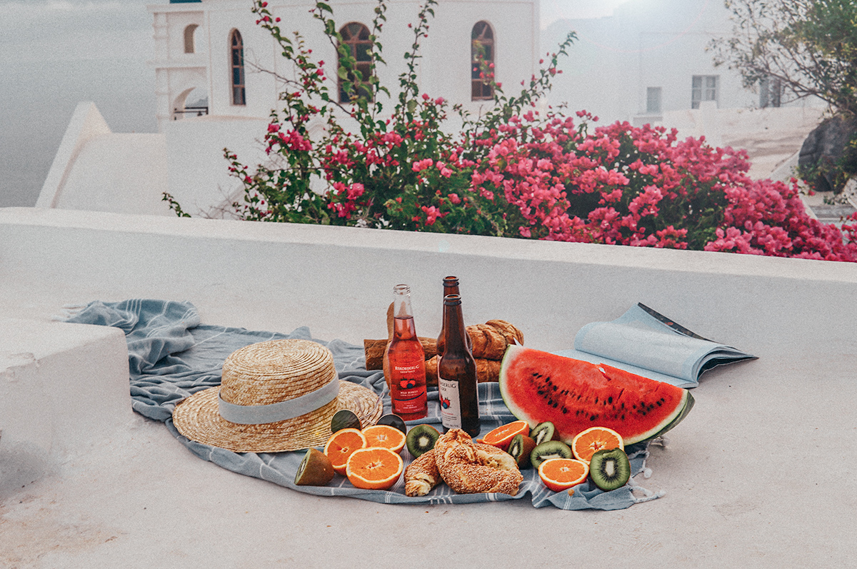picnic in the Greek Islands