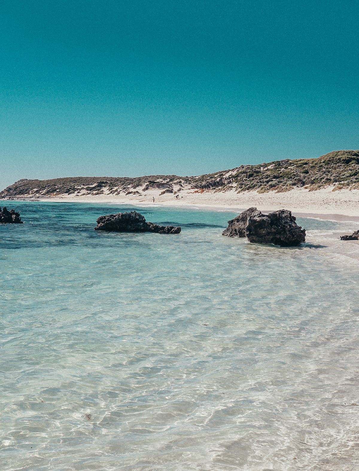 Turquoise water in Rottnest Island