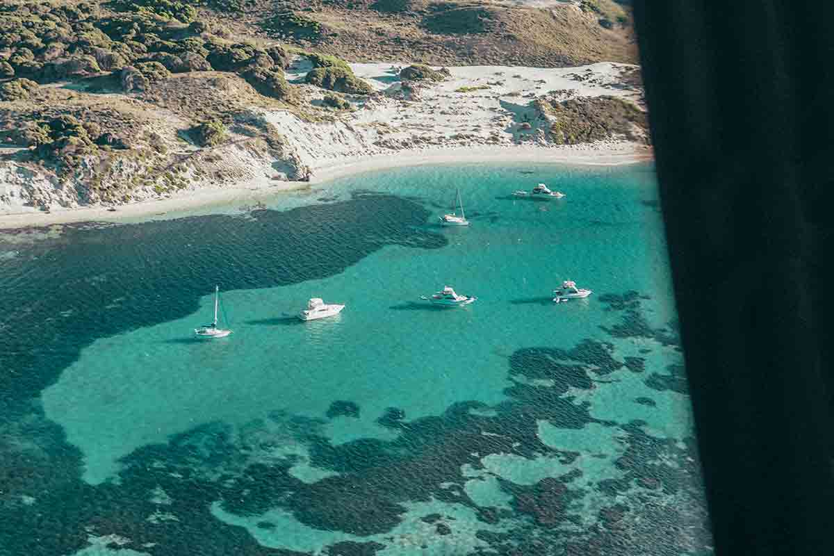 Helicopter ride over Rottnest Island